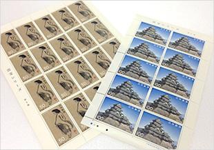 国宝シリーズの松本城と寒山図